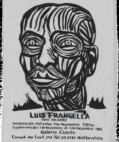 Dibujo original de Luis Frangella. Boceto para póster.