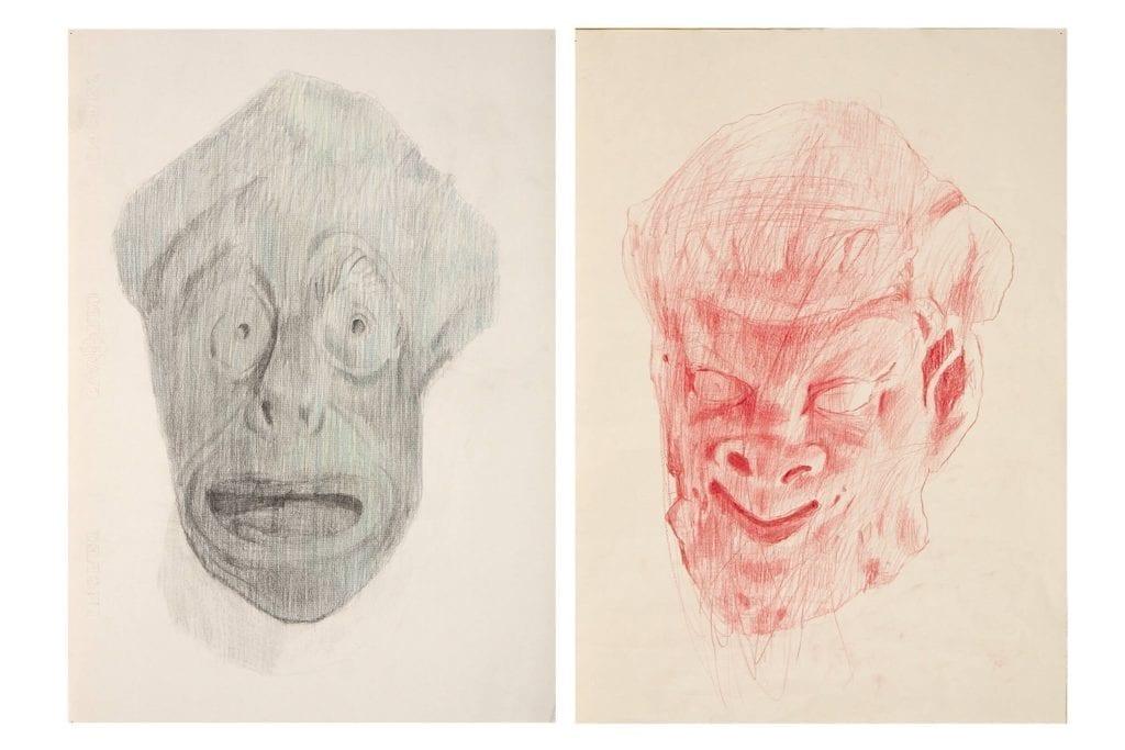 Oriol Vilapuig, Dos caps (sátiro y máscara), 2010