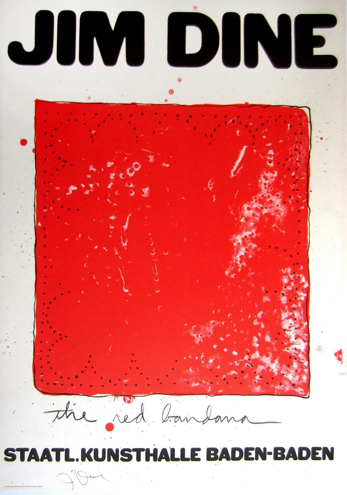 Jim Dine, The red bandana, 1971