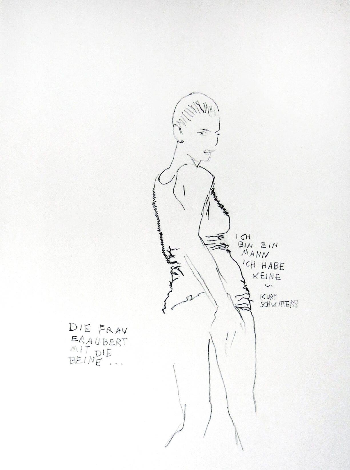 Erich Weiss, Die frau eraubert mit die beine, 2007