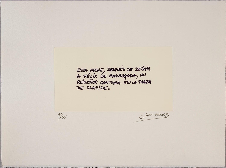 JUAN HIDALGO, Etcéteras, 1989