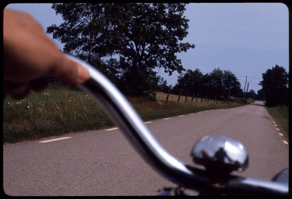 Miguel Ángel Mendo, Self-Portrait on a Bike, 1976